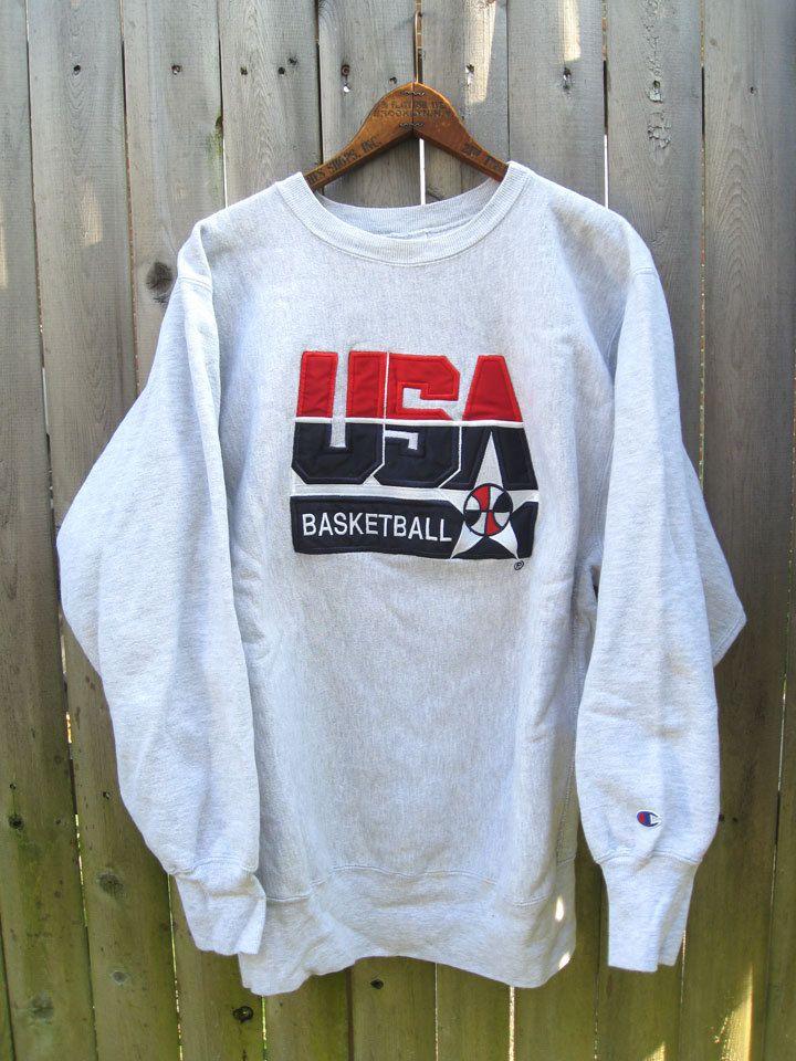 Champion USA Basketball Dream Team Crewneck Sweatshirt | Dream ...
