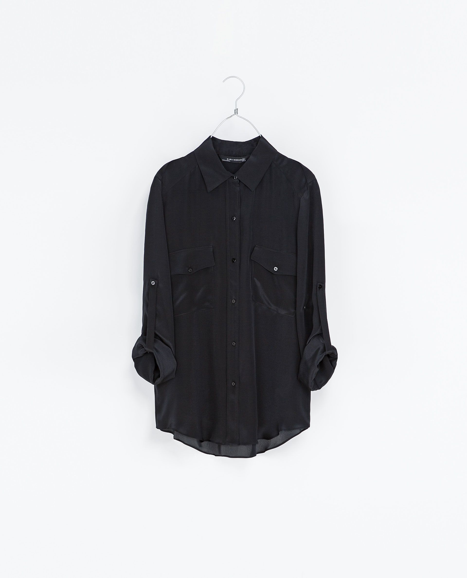 4890347a31110b Zara Silk Shirt With Pocket - BCD Tofu House