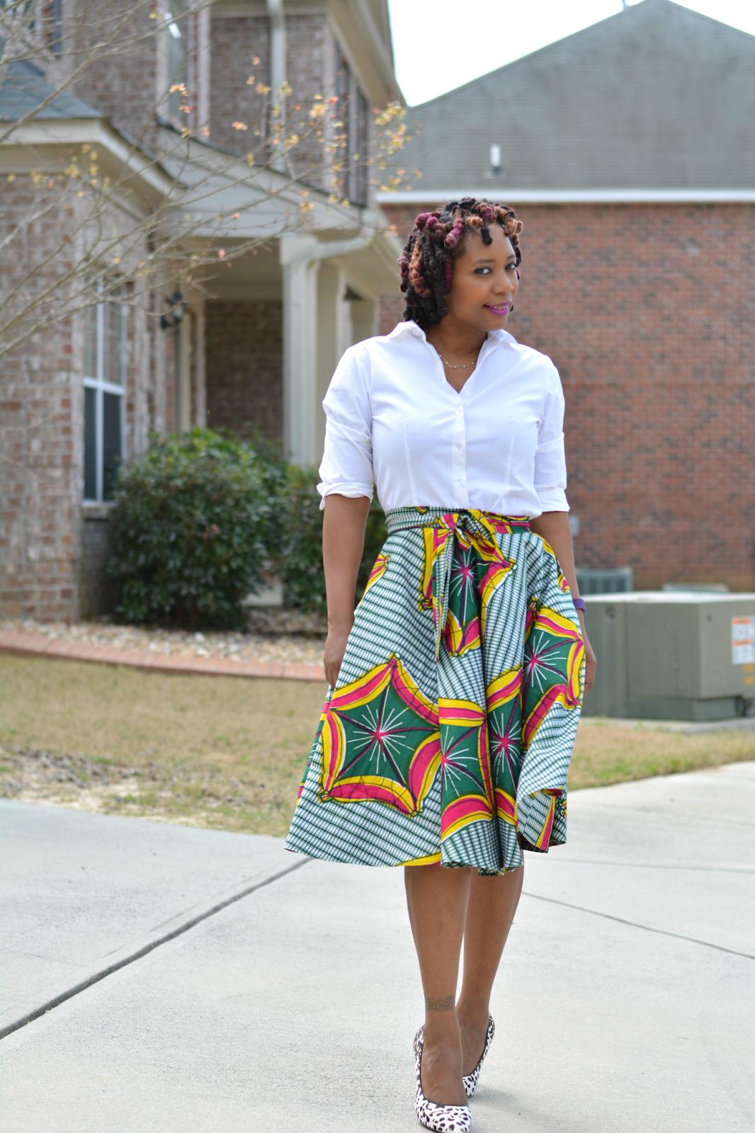 DIY African Print Skirt