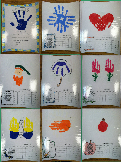 Handprint Calendar Great Parent Gift Free Template For Next Year