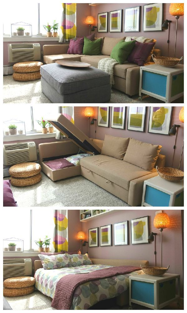 Make the most of small college spaces with the 3 in 1 FRIHETEN sofa bed   Spare room office fix. Sit  sleep  store  Make the most of small college spaces with the