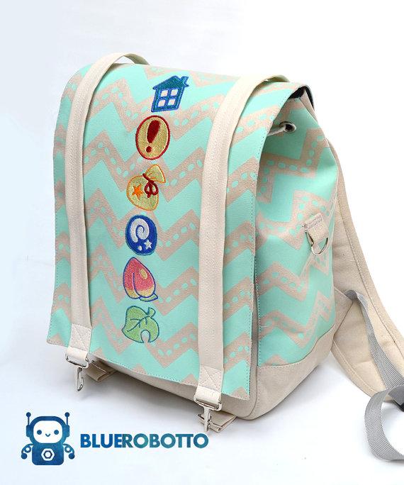 Animal Crossing pastel backpack