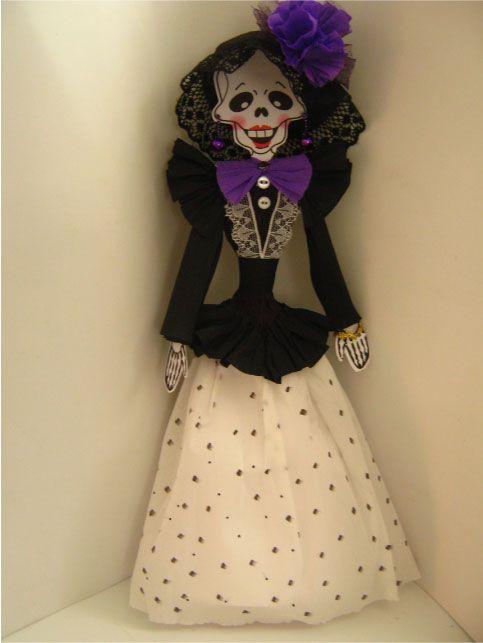 vestidos de catrinas elegantes de papel