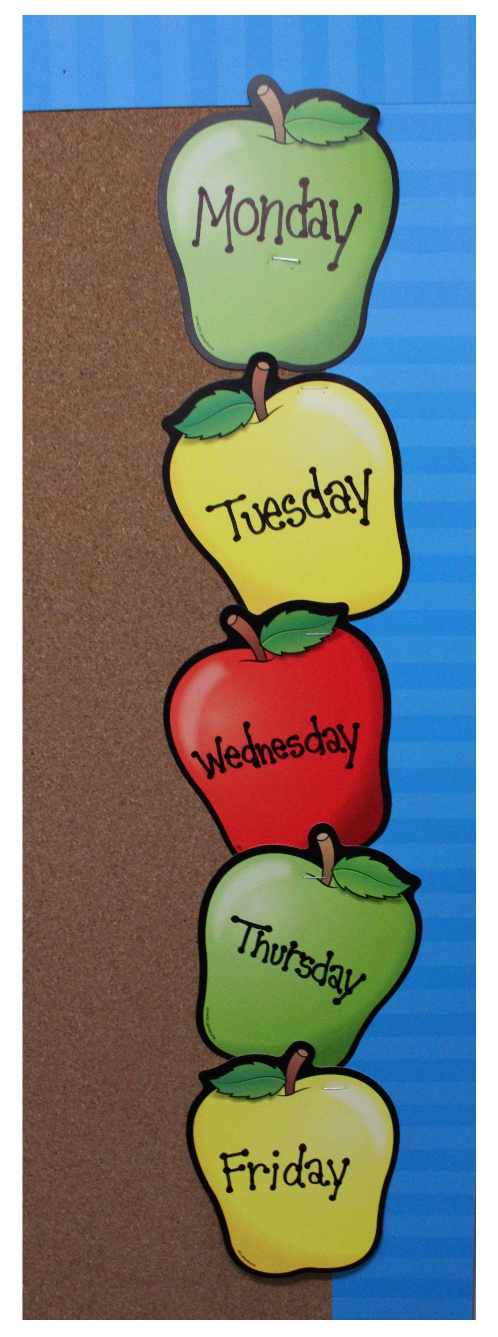 Lakeshore Classroom Decor ~ Lakeshore s colorful apple bulletin board accents bring