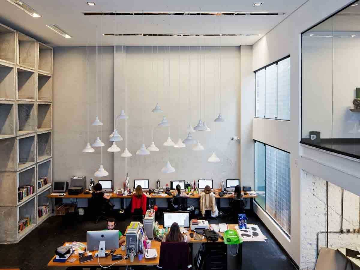 office ceilings. Case Rex, A Brazilian Design Office, Has Two-story High Ceiling In Office Ceilings