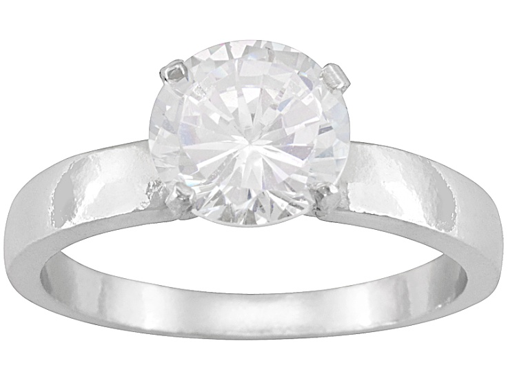 137d719d2 Bella Luce® 3.60ct Round Rhodium Over Sterling Silver Solitaire Ring ...