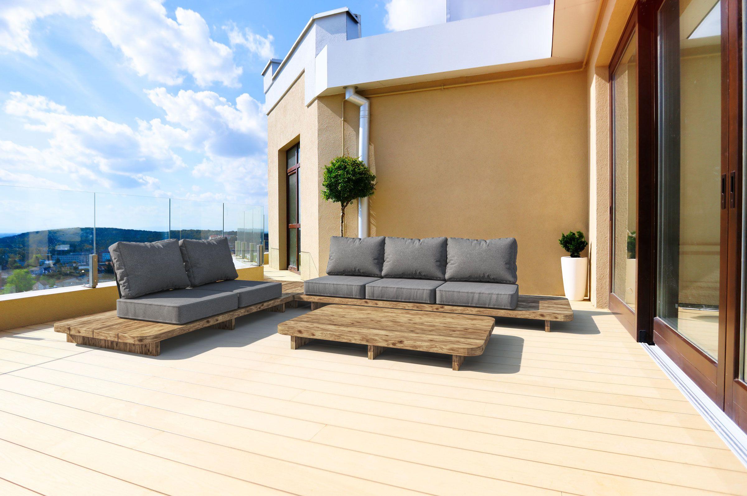 Outflexx Loungemobel Natur Recycled Teak 5 Sitzplatze Inkl Kissen 20304 In 2021 Lounge Mobel Teak Lounge