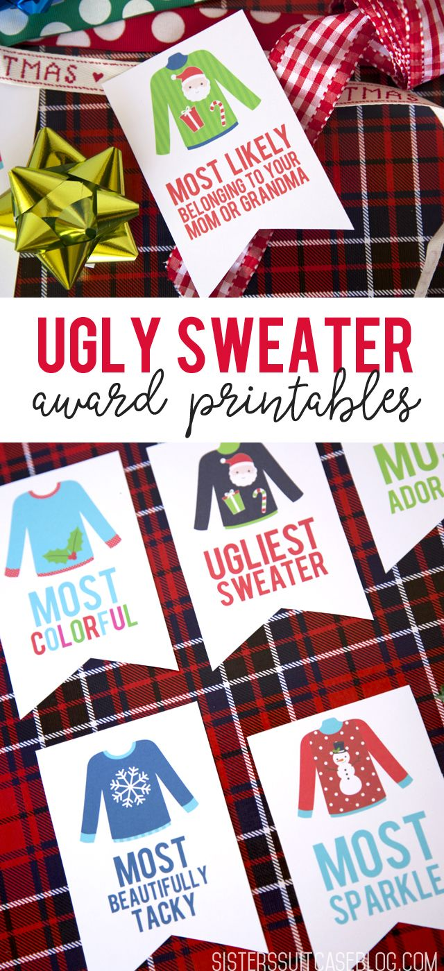 Ugly Sweater Party Awards - My Sister's Suitcase - Packed with Creativity