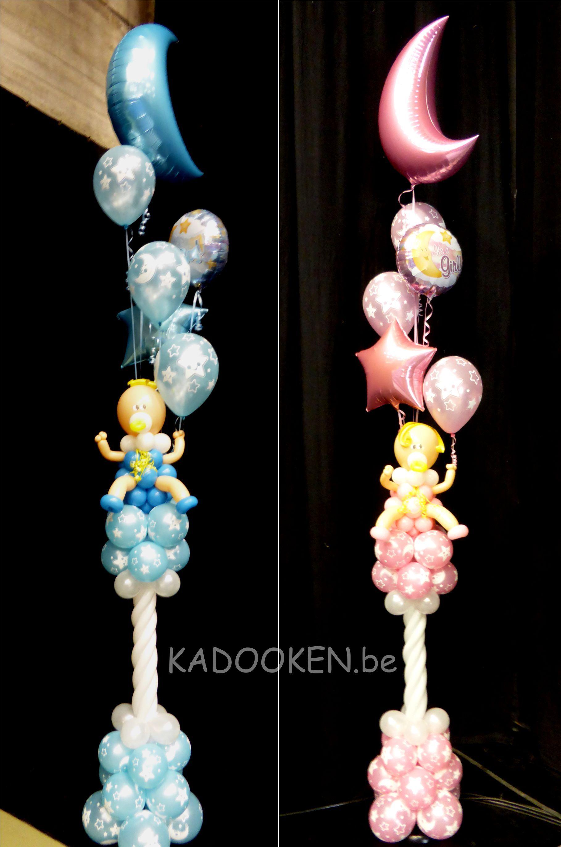 Ballonnen, Ballondecoratie, ballonbaby's, ballons geboorte, ballonshop, heliumballonnen, aankleding babyborrel www.kadooken.be