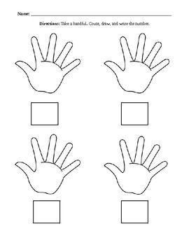 This math activity involves students taking a handful of