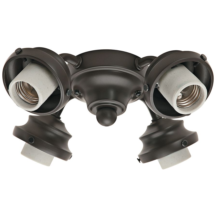 Hunter 4 Light New Bronze Fluorescent Ceiling Fan Kit With Gl Or Shade 99143