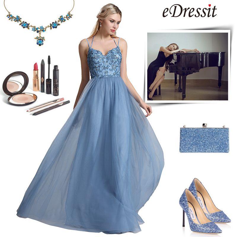 eDressit Sweetheart Spaghetti Bridesmaid Evening Dress