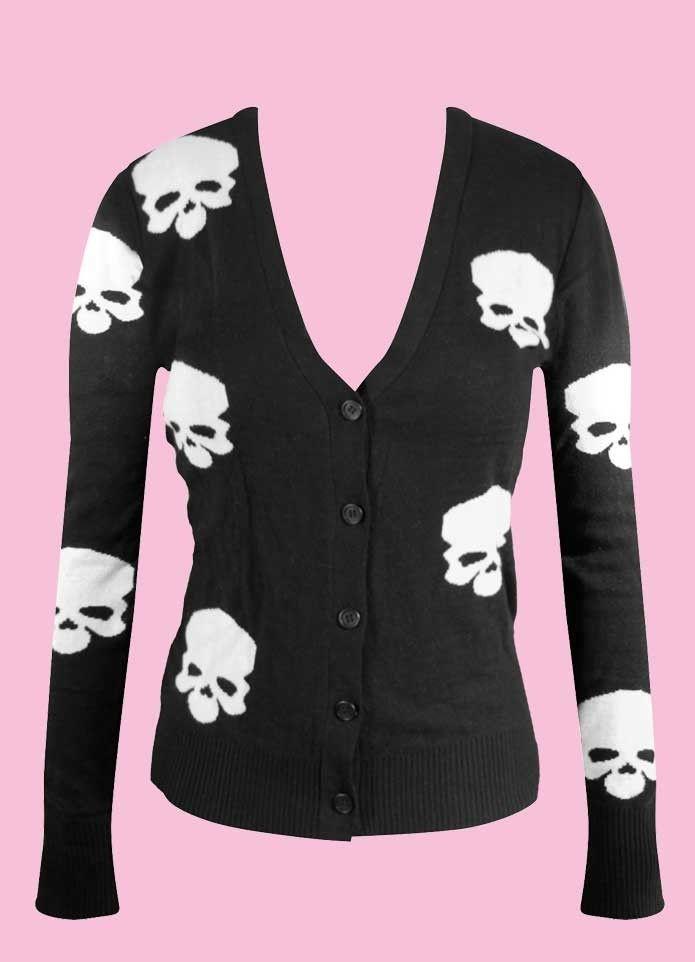 Black Cardigan 10 Long Sleeve Cardigan 12 Rockabilly Cardigan Psychobilly Style