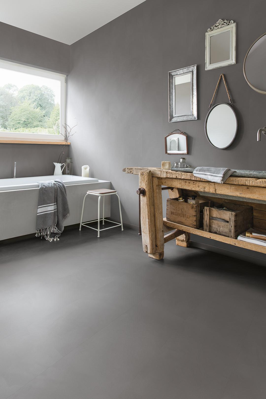 Choose The Perfect Bathroom Floor Quick Step Co Uk Vinyl Flooring Patterned Bathroom Tiles Color Bathroom Design