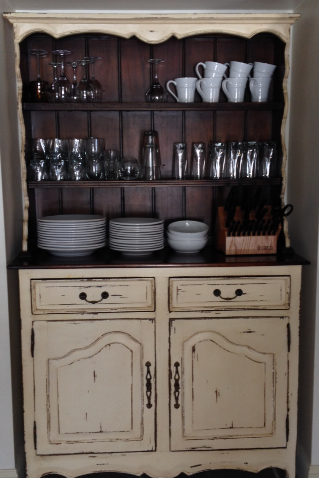 Beautiful Hutch In Antique Cream And Aged Honey From Platypus PR Showcase  Design, Platypus,