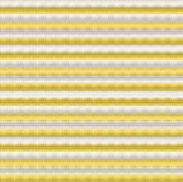 Yellow Stripes Cross Stitch Pattern