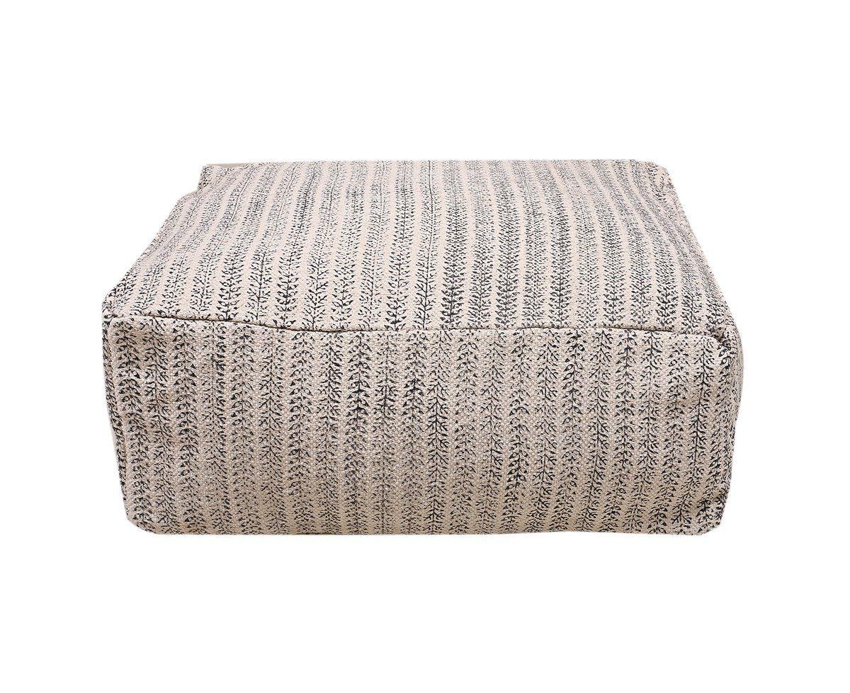 Linen Connectioms Moroccan Rug Fabric Dakota Ottoman Pouf Footstool Beanbag 60CM*60CM*25CM