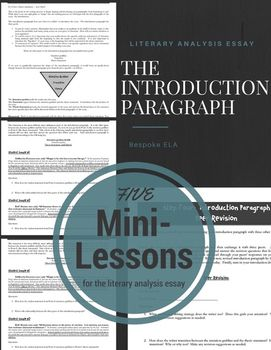 The Literary Analysis Essay And The Introduction Paragraph In