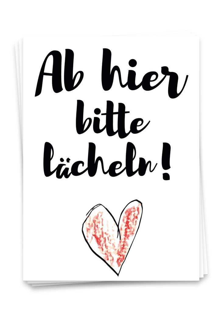 Please smile from here - postcard - Sprüche - Sayings, proverbs -