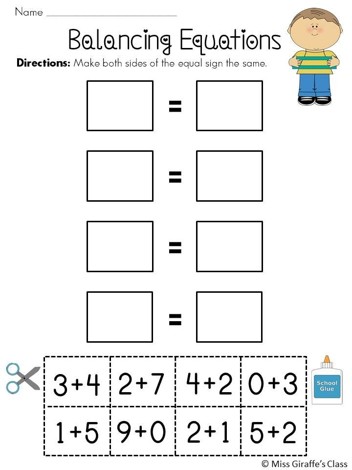 Balancing Equations Worksheets Math Pinterest Equation