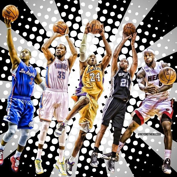 All Nba First Team 2012 2013 Basketball Players Nba Art Sports Images