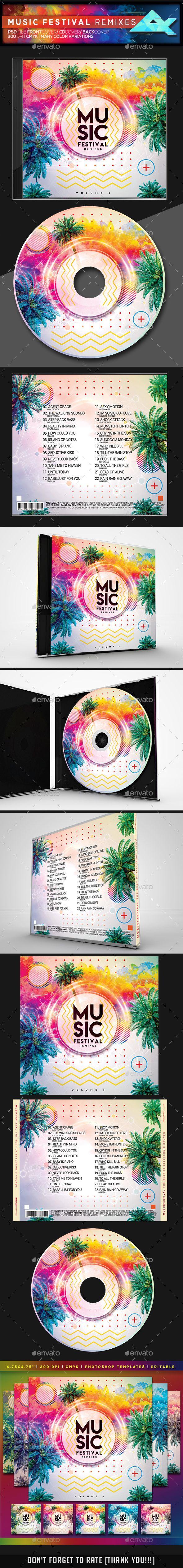 super music festival cd dvd photoshop template psd cd dvd cover