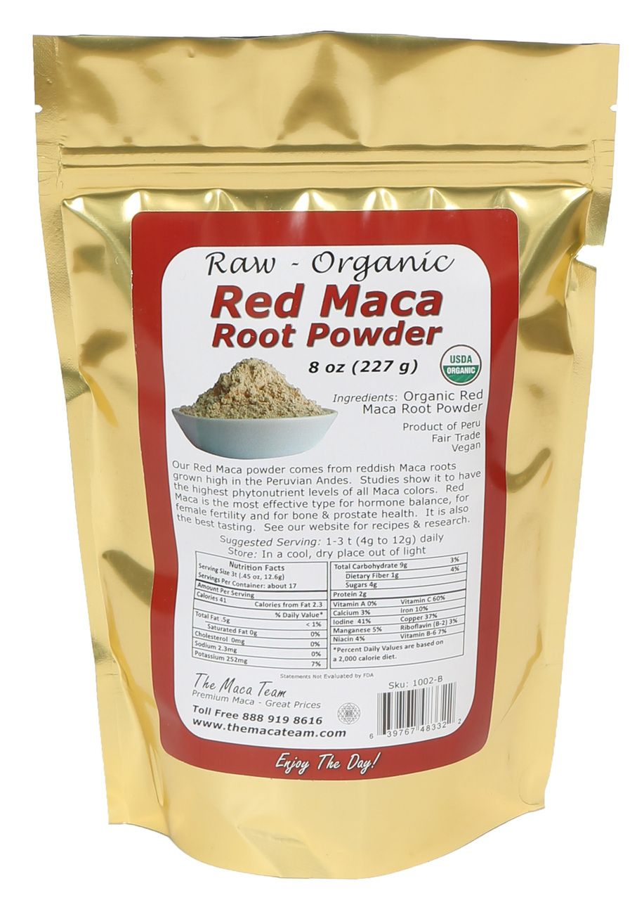 Fres Highest Nutrients of All Maca Details about  /Certified Organic Raw Red Maca Root Powder