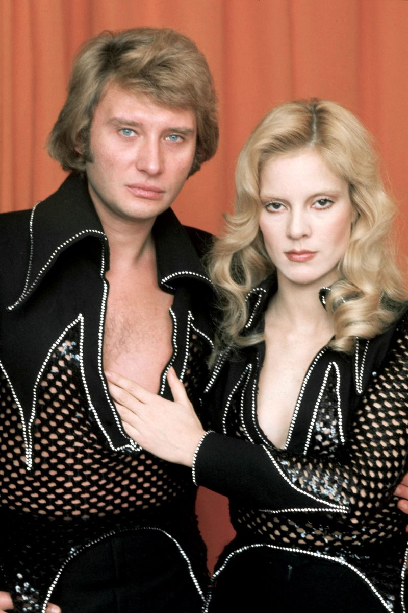 evgenia gl johnny hallyday and sylvie vartan by giancarlo botti 1970s music icons pinterest. Black Bedroom Furniture Sets. Home Design Ideas