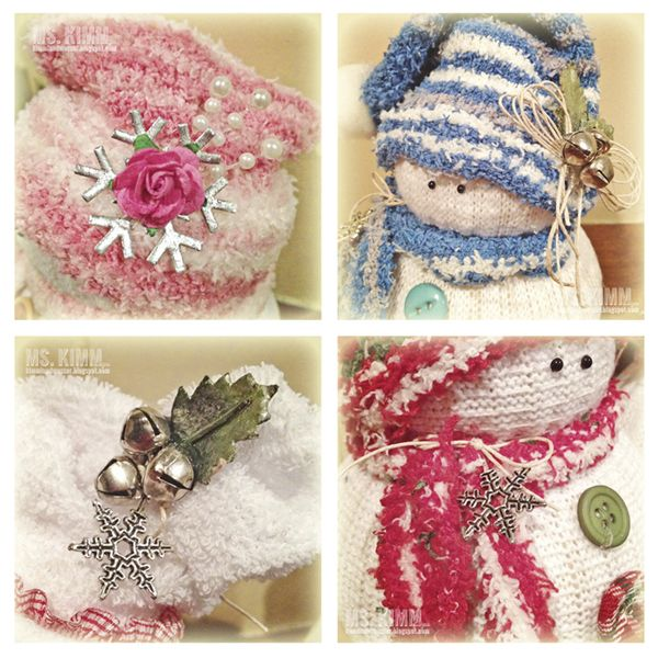 Ms Kimm Creates: Handmade Sock Snowmen Tutorial