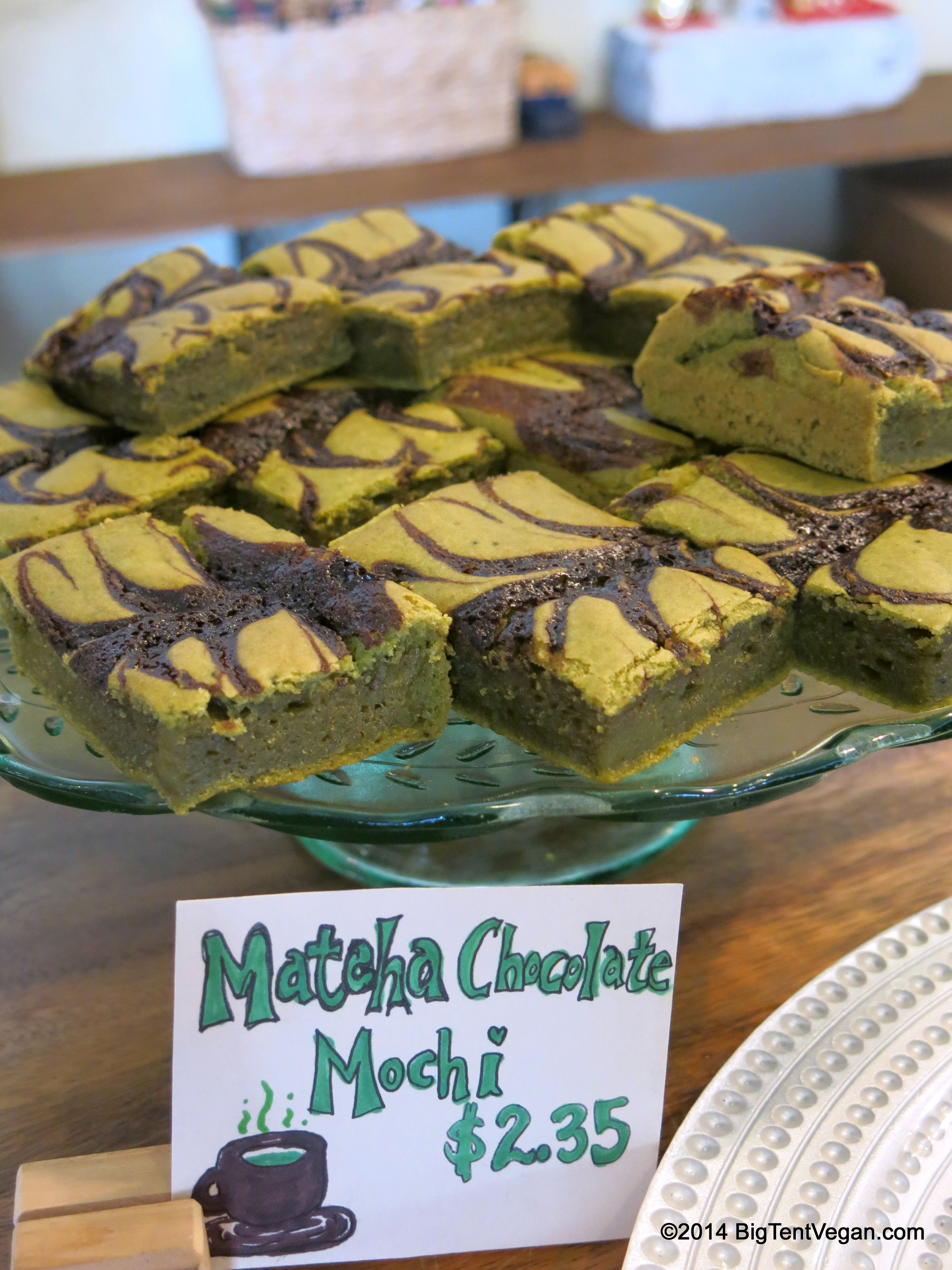 Matcha (green tea) Chocolate Mochi (sweet sticky rice cake ...