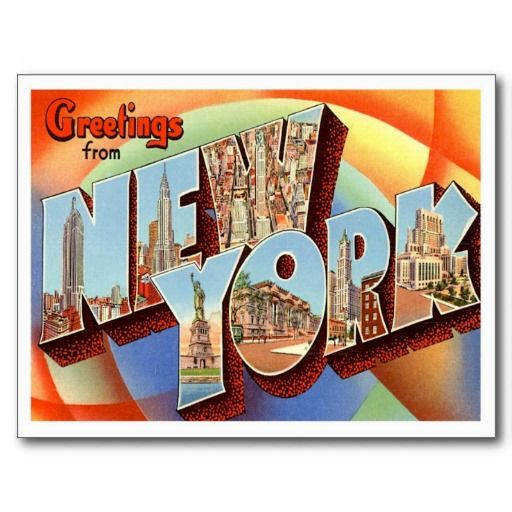 Greetings from new york ny postcard pinterest greetings from new york ny postcards newyork shirtsstickershatsbagsstampsmagnetsgifts and more m4hsunfo