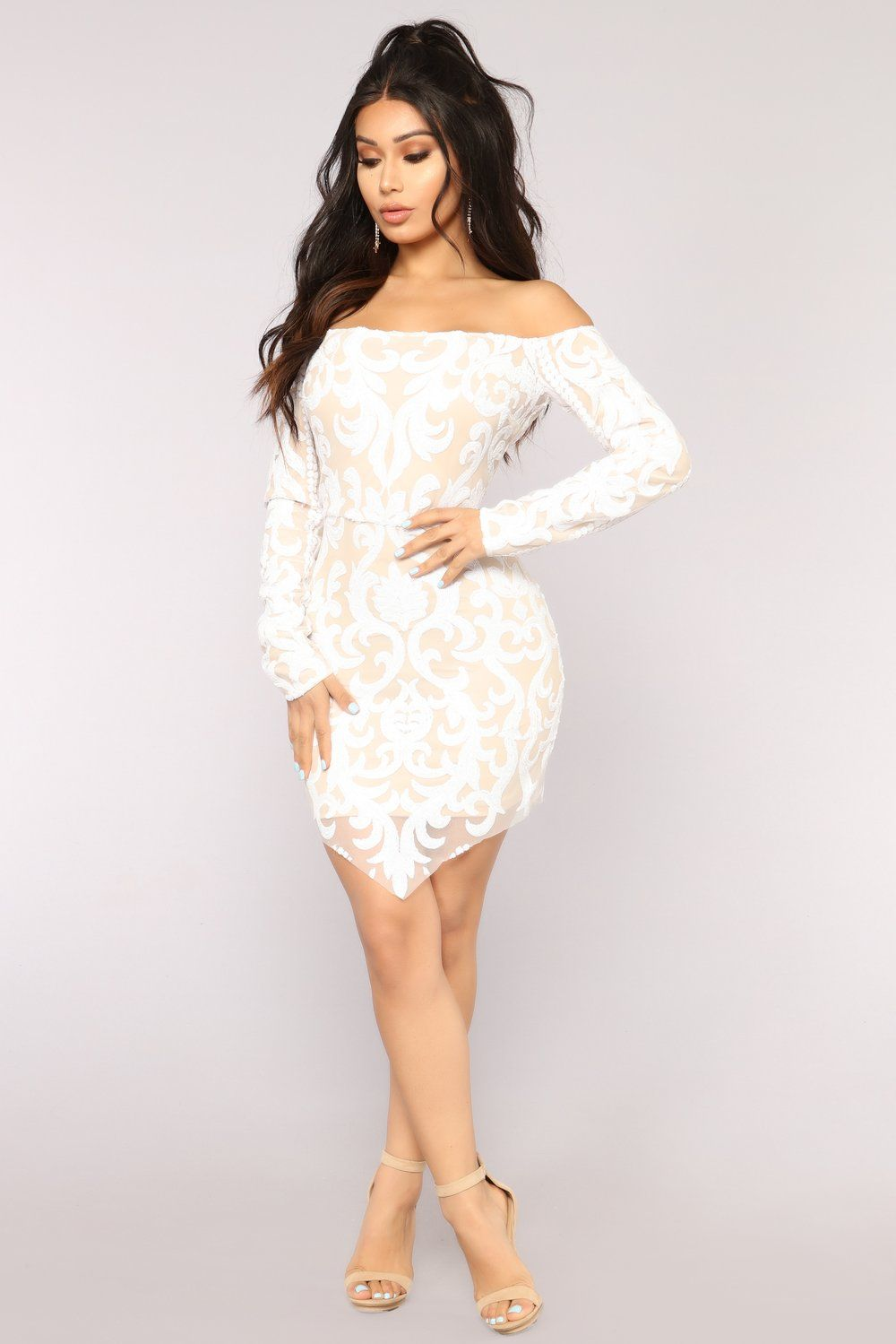 Throw Shine Not Shade Sequin Dress White Dresses Long Sequin Dress White Sequin Dress [ 1499 x 1000 Pixel ]