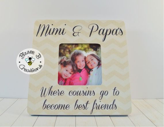 Grandparents Picture Frame Gift Mimi and Papa by BizzeeBCreations ...