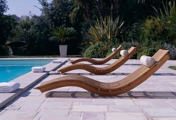 Pool Chair Outdoor Garden Furniture Sun Lounger Backyard Decor