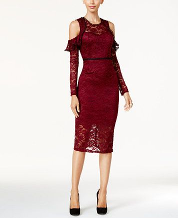 6f163be965aaee Thalia Sodi Cold-Shoulder Lace Dress