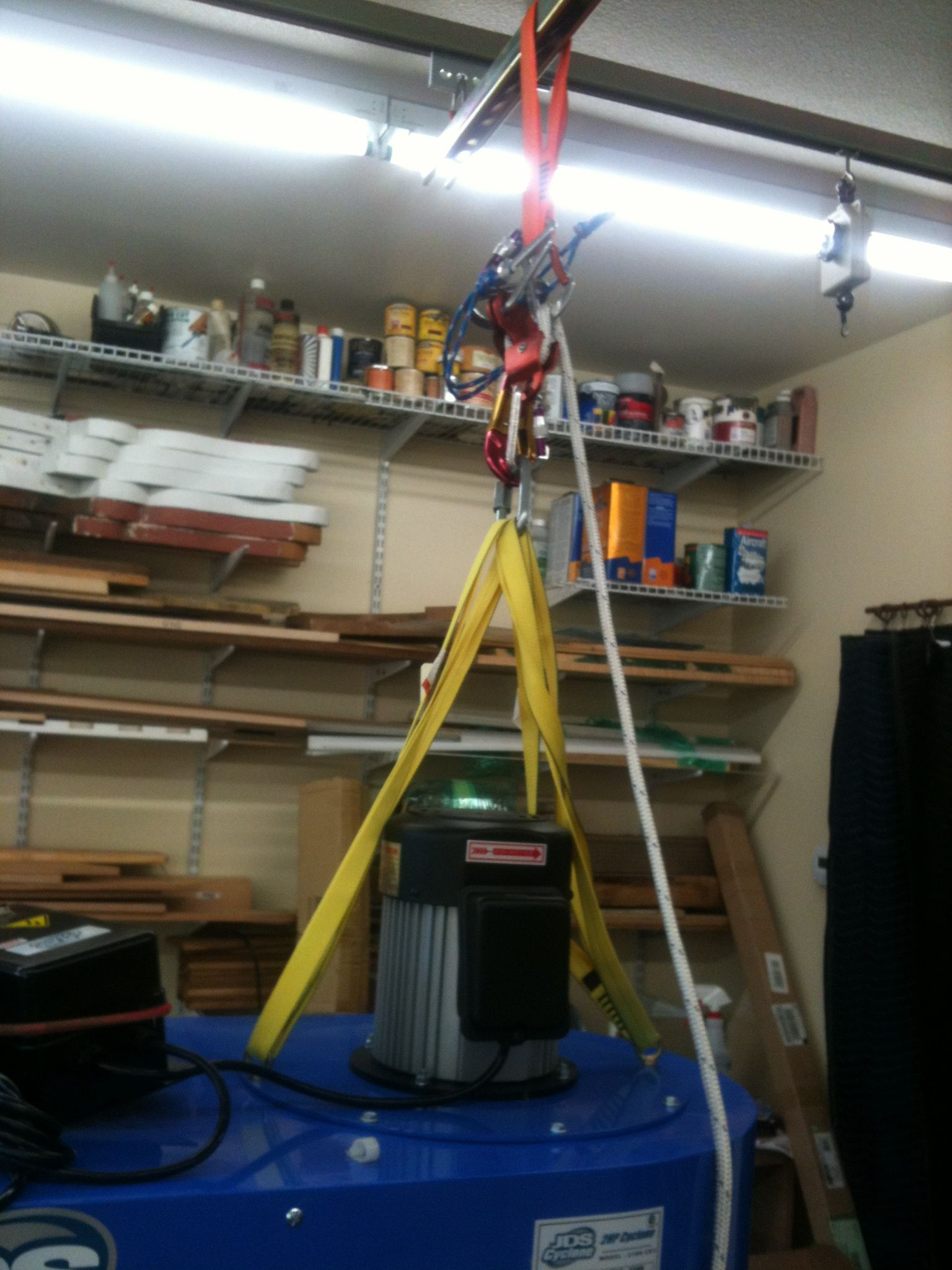 Unistrut Trolley System In My Shop. Being Used Here To Hoist Parts Of My  Dust Collector During Assembly.   Tools U0026 Shops   Pinterest   Dust  Collector, ...