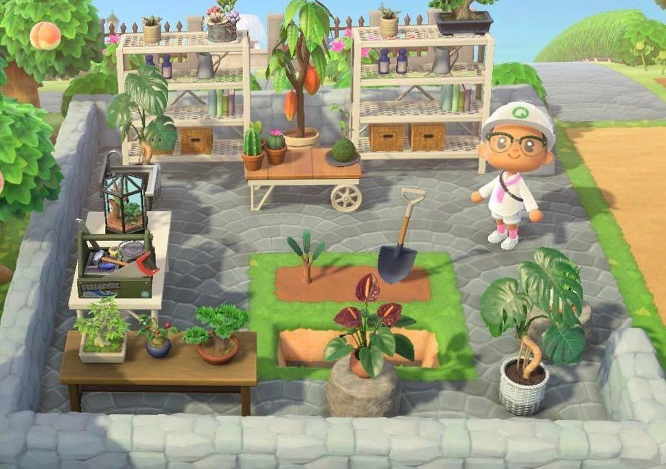 "Animal Crossing New Horizons on Instagram: ""Plant workspace 🌱 - credit to m11534 on Reddit"""