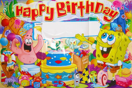 spongebob squarepants birthday party bannerposter