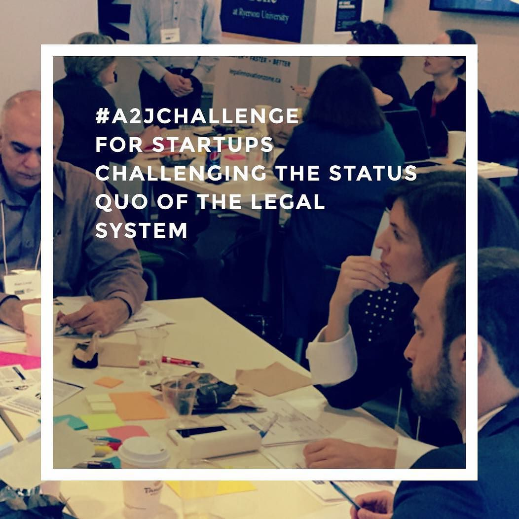 Want to make a positive impact on access to justice in Ontario? Apply to the #A2Jchallenge via Ryerson Legal Innovation Zone and the Ontario Ministry of the Attorney General  The deadline to apply is June 24 2016 at 11:59pm Eastern Daylight Time.  Based on the quality of submissions up to 10 finalists will be chosen and invited to pitch to the judging panel comprised of industry experts and the program sponsors. The panel will select six winning startups to participate in the four-month…