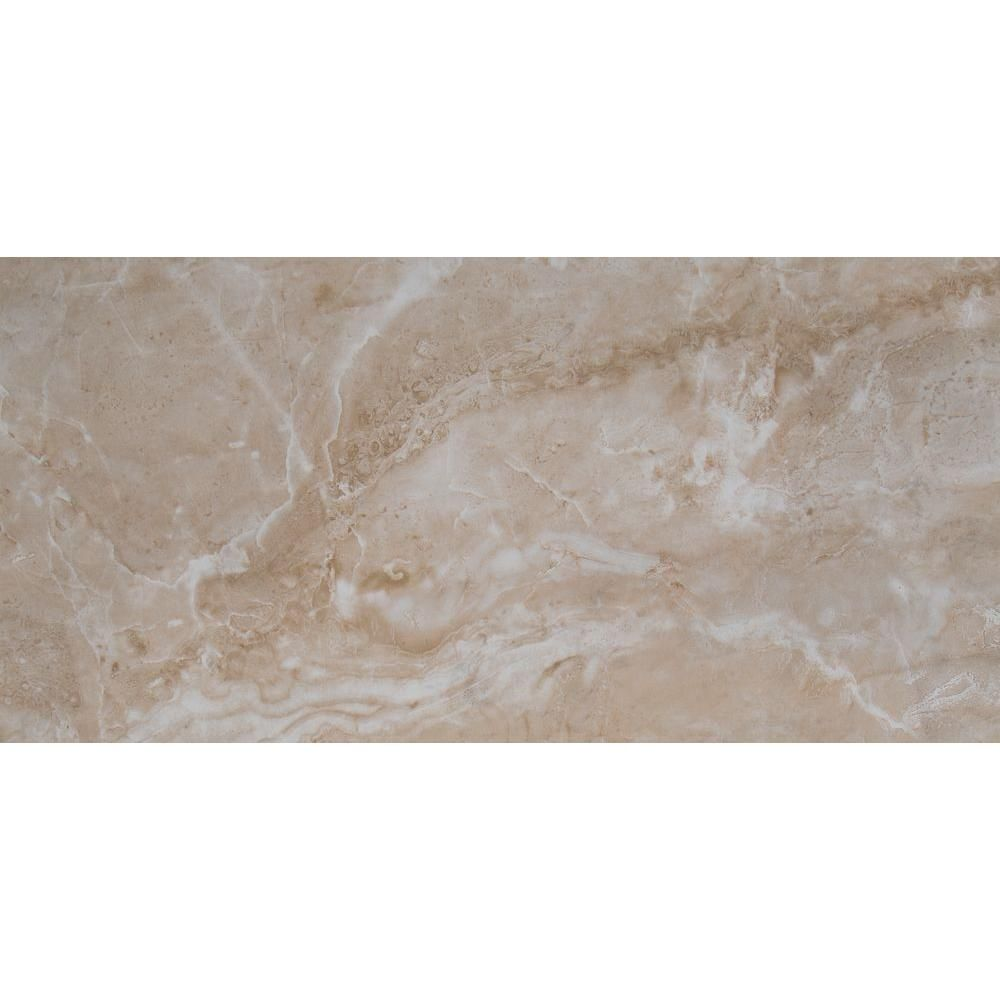 Ms International Cancun Beige 12 In X 24 Glazed Ceramic Floor And Wall Tile 16 Sq Ft Case