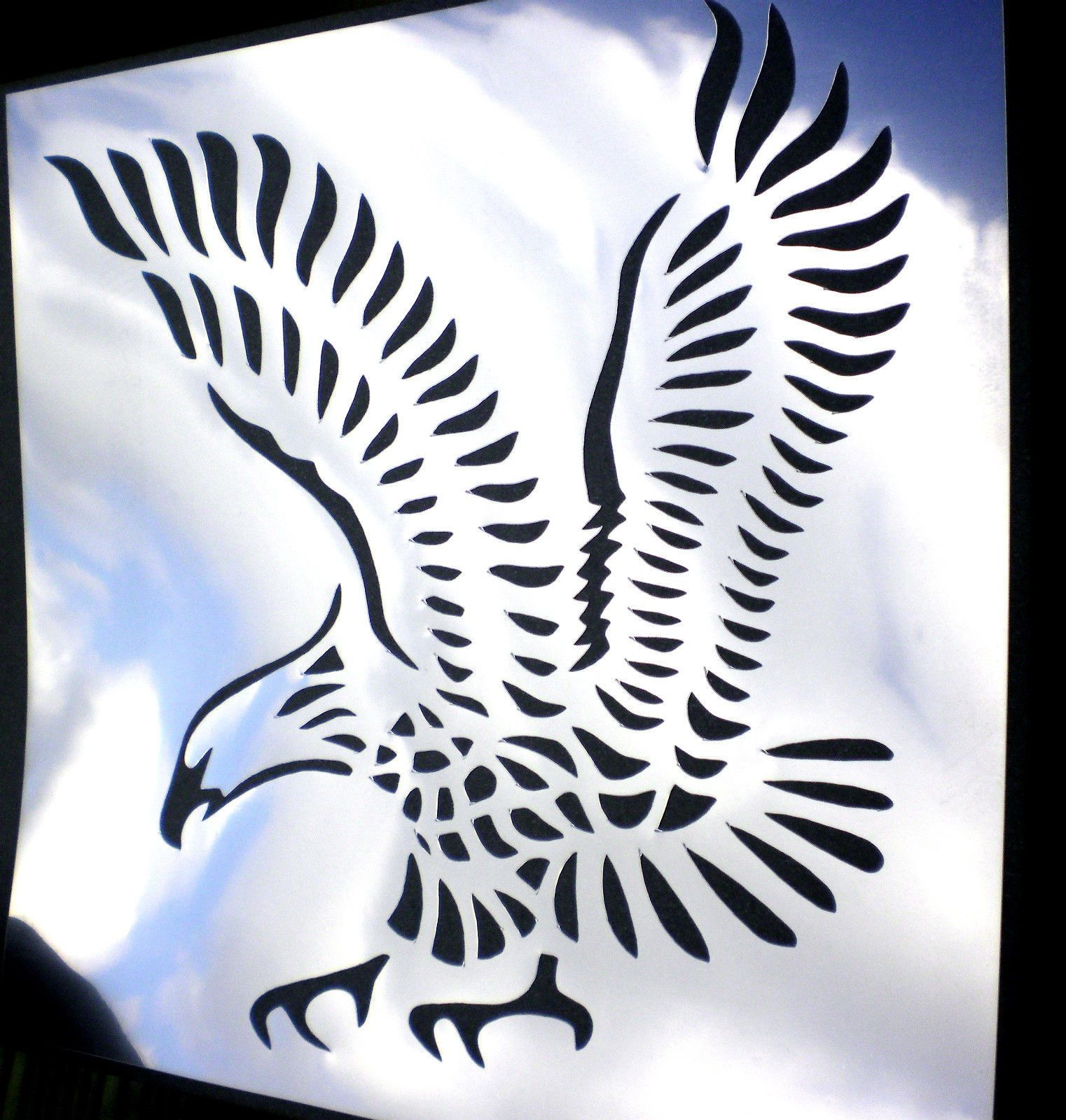 high detail airbrush stencil eagle three FREE UK POSTAGE