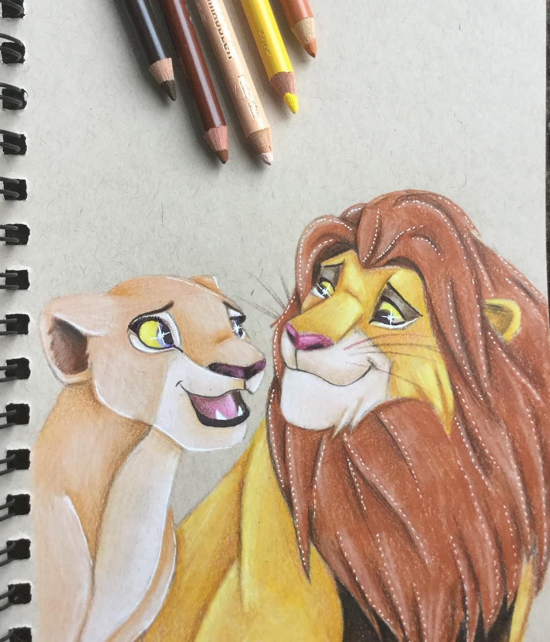 u0026quot can you feel the love tonight  u0026quot  the lion king  ud83e udd81 drawing
