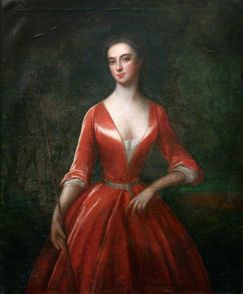 A Lady in a Red Dress, ca. 1730; Falmouth Art Gallery FAMAG:1000.38