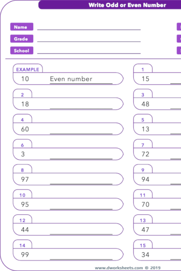 Learning Or Teaching Odd Or Even Number Is So Easy With Worksheets Activities And Printables Of Dworkshe 2nd Grade Math Common Core Math Worksheets Worksheets