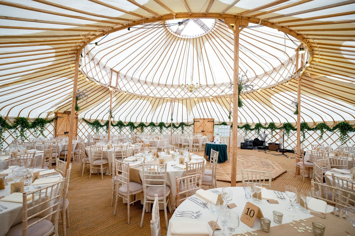 Spectacular 42ft Wedding Yurt For Hire In The Uk Www Yurtmaker Co Uk Unusual Wedding Venues Wedding Locations Outdoor Cotswolds Wedding