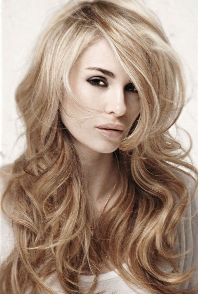 Long Blonde Layered Hairstyle Hair Pinterest Blonde Layers