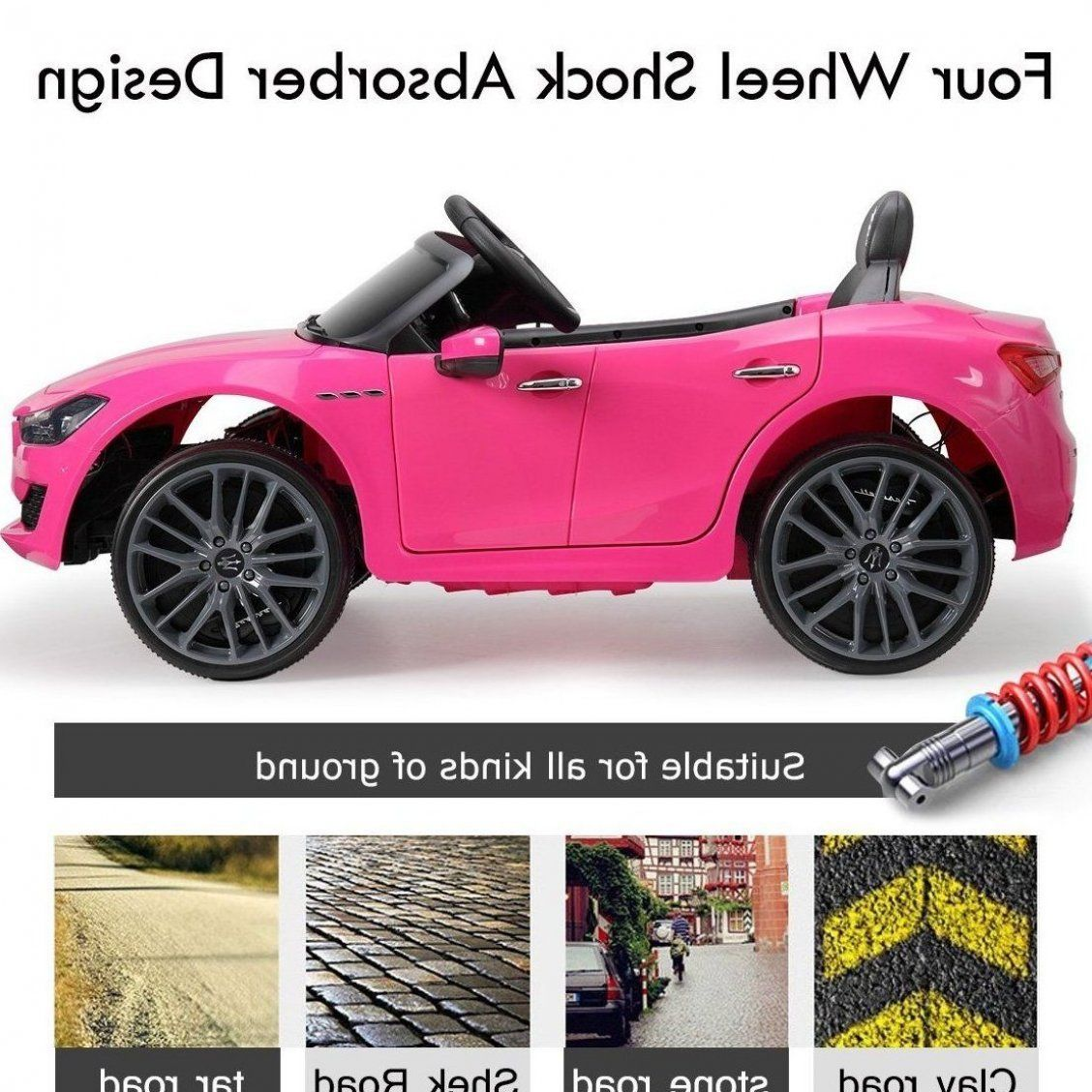 Tobbi 12v Kids Ride On Car Maserati Licensed Electric Car Kids To Ride Motorized Vehicle For Girls With Remote Control Mp3 Led Lig In 2020 Toy Car Toys Kids Ride On