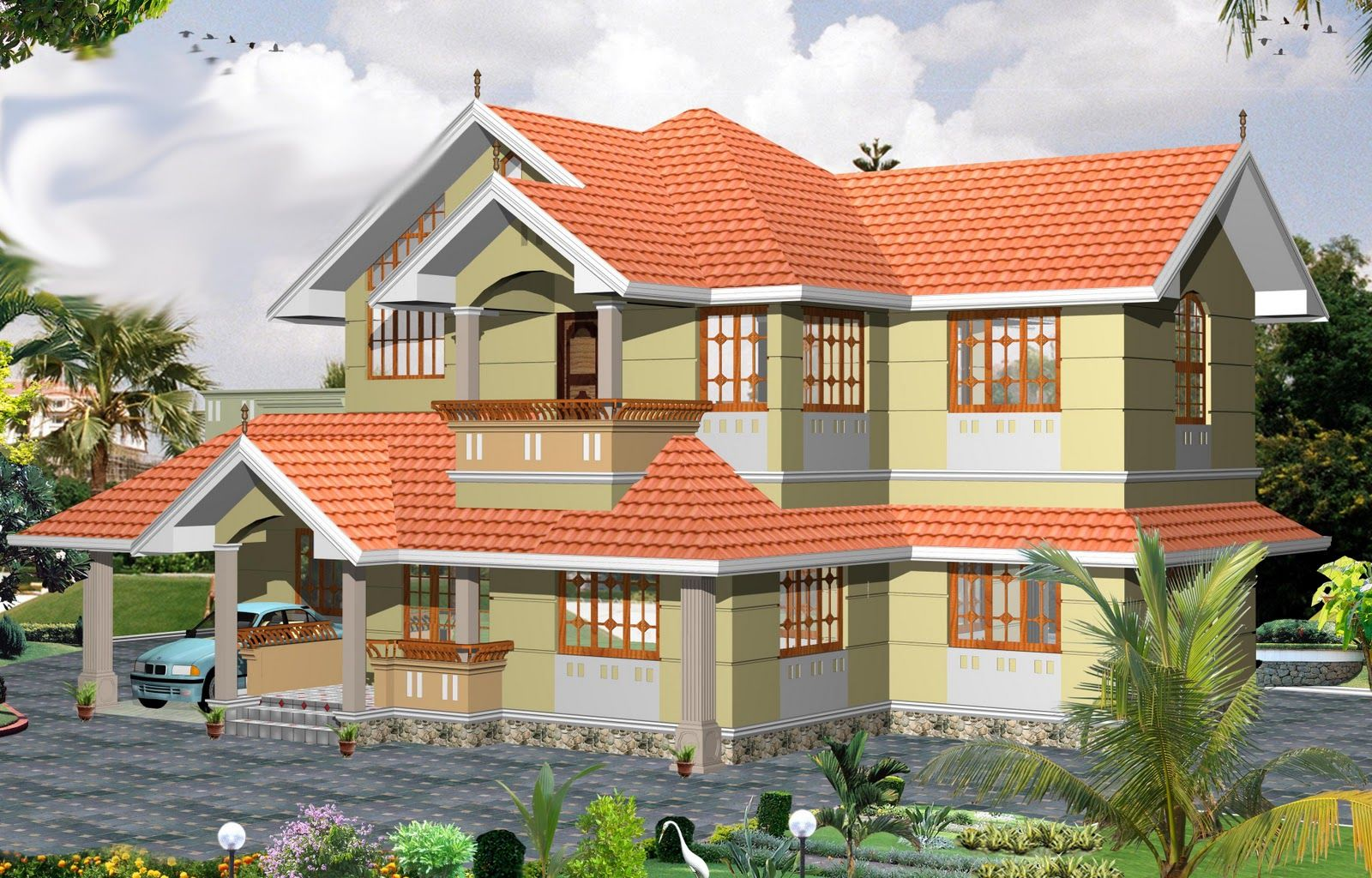 Indian home design kerala home pictures kerala home plan for Kerala new home pictures