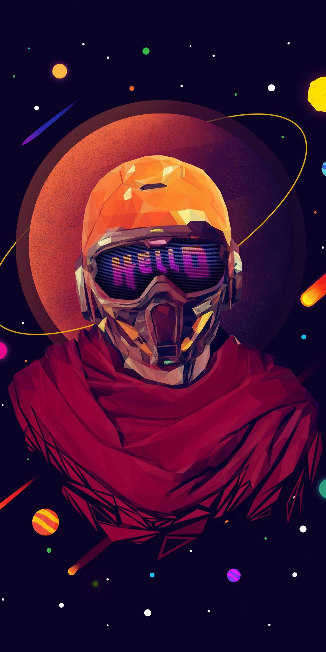 StarLord, marvel, superhero, minimal art, 1080x2160