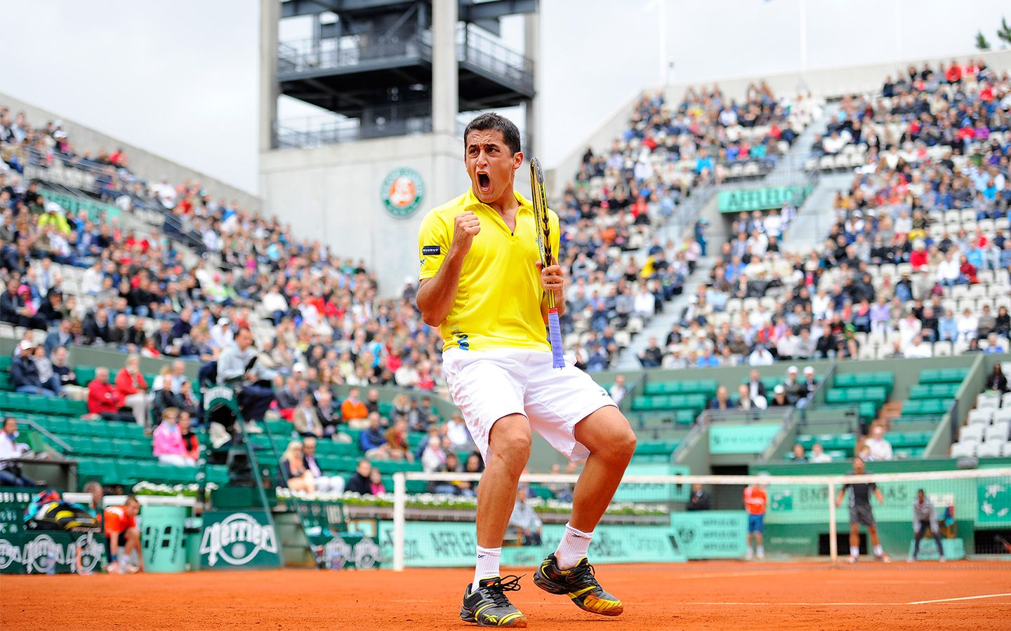 Nicolas Almagro Is Through To The Quarter Finals After A Solid Three Set Victory Over Janko Tipsarevic Roland Garros Tournaments Athlete